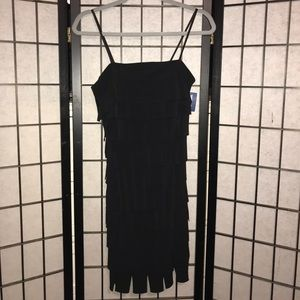 Mini Black Tank Top Flapper Dress